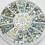 Uñas Postizas Puntas De Uñas Diy Nail Art Fashion Color Mezclado Nail Stone Ab Color Rhinestone Beads Irregulares Manicura Para Uñas Art Decorations Crystals-8