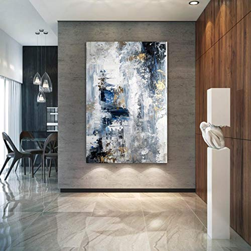XIANGPEIFBH Printed On Canvas Large Abstract Painting,Modern abstract painting,office wall art,original abstract,textured art 45x60cm(18'x24') Unframed