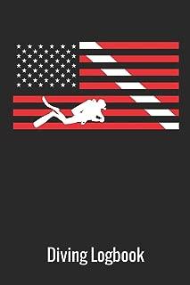 Diving Logbook: Scuba Diving Log book American Flag, 110 Pages, 216 Dives