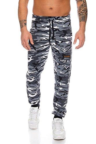 Raff & Taff Pantalones de Deporte para Hombre, para Correr, Tiempo Libre, de algodón, cómodos y elásticos Gris XXXL