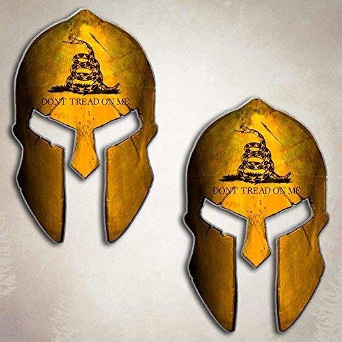 Aftershock Decals Dont Tread On Me Historical American Flag Spartan Helmet Decal Set