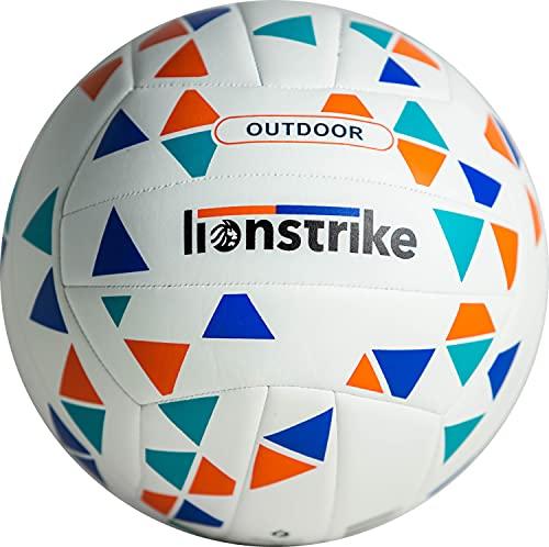 Lionstrike Pallavolo all'Aperto - Palla Volleyball Misura Ufficiale 5, per Spiaggia, Parco e Cortile - Cucita e Impermeabile, Strato Esterno in TPU Resistente, Antiscivolo, Speciale Membrana SR - 270g