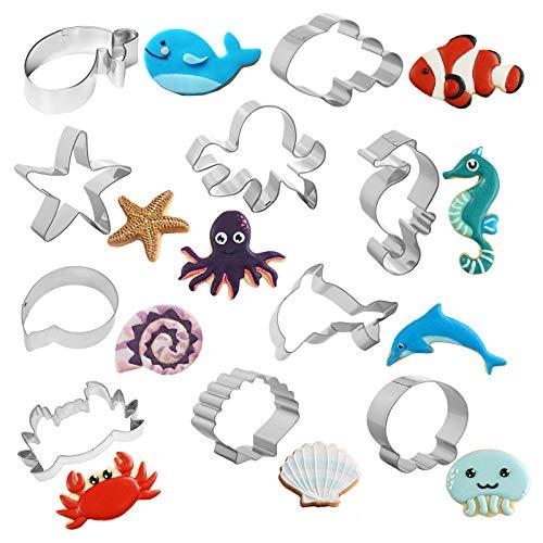 10 pezzi Formine per Biscotti,Acciaio inossidabile formine per Biscotti Ocean Creature Stampo per biscotti DIY Forme Biscotti per cottura fai da te