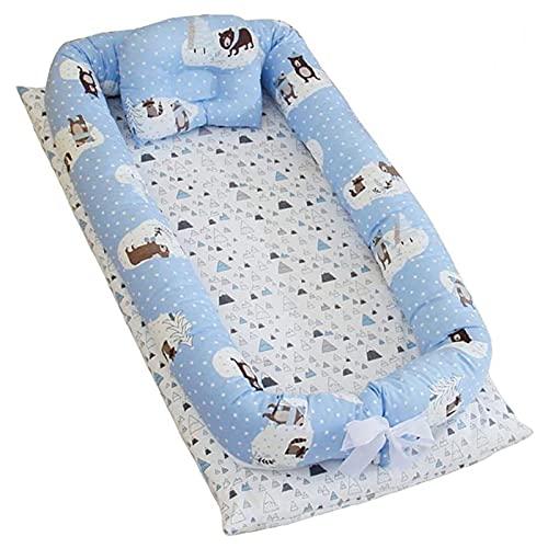 GLYIG Nido Bebé Recién Nacido, Cama Cana Nido de Viaje Doble Caras para Bebe Dormir para Dormir Baby Nest Nido bebé Reductor De Cuna Reversible Capullo Multifuncional de Baby (Color : 2)