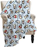 ARRISUM Summer Cute Penguins Blanket Super Soft Flannel for Bed Sofa Lightweight Blanket Throw Size for Kids Adults All Season 50X40 Inches