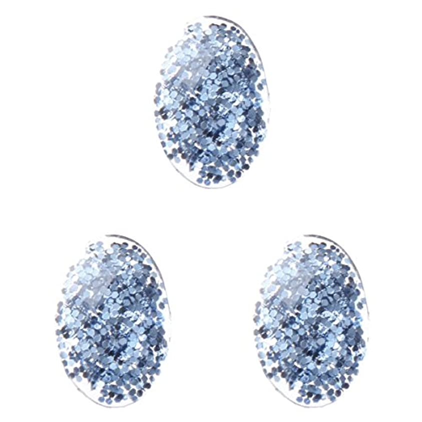 ビン哲学ゆるい<エトゥベラ>ファンタジーストーン オーバル3×5mm(各30個) ブルー(3x5mm)