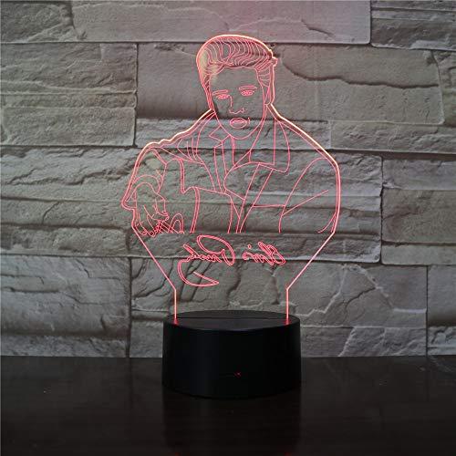 Eis Aaron Presley Schreibtischlampe Der König der RocknRoll LED Nachtlicht Musik Atmosphäre USB Touch Sensor Geburtstagsgeschenke
