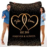 Personalized Blankets for The Closest One to Your Heart Custom Premium Mink Sherpa Blanket Couple, Custom Couple Gifts (60'x80')
