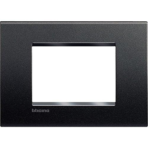 BTicino Livinglight Placca 3 Moduli, Forma Rettangolare, Antracite, 1 Pezzo