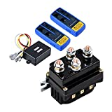 Astra Depot Combo 12 Volt Wireless Winch Remote Control Kit Twin Range max. 150ft + 12V 500A Winch Solenoid...