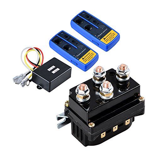 Combo 12 Volt Wireless Winch Remote Control Kit Twin Range max. 150ft + 12V 500A Winch Solenoid Contactor Relay for 8000lbs-12000lbs ATV UTV 4WD 4x4 Winches