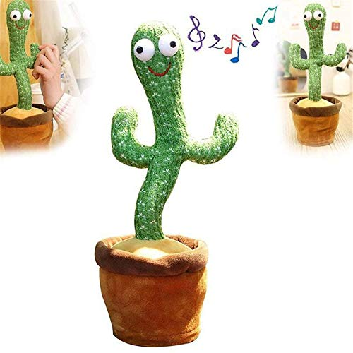 Electronic Dancing Cactus, Electronic Shake Dancing Cactus Peluches, Cactus Peluches Canto y Baile Cactus Juguete Electrnico, Juguetes Divertidos Regalos para Nios