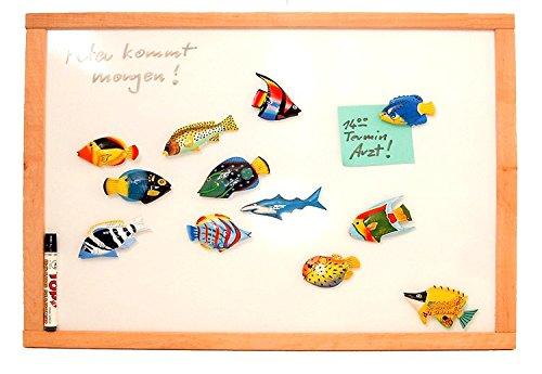 Magnettafel, Whiteboard, Note-Board, schutzlackiert & magnethaftend - im Rahmen aus Buche - 50 x 60 cm