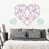 Pegatina de pared Familia Citas de vinilo Lettering Wall Art Decal DIY Origami Corazón Decoración para el hogar