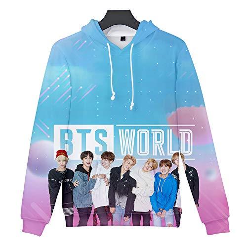 Aopostall Kpop BTS Jimin Jungkook 3D Hoodie MAP of The Soul Persona Sweatshirt Sweater