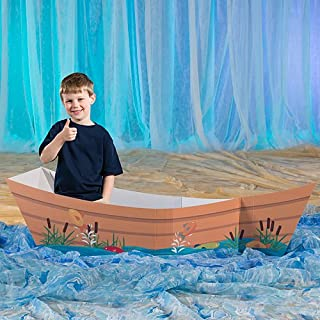 Gone Fishin' Boat Prop by Shindigz Standup Photo Booth Prop Background Backdrop Party Decoration Decor Scene Setter Cardboard Cutout