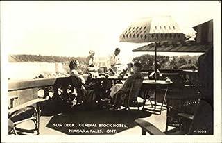 Sun Deck, General Brock Hotel Niagara Falls, Ontario Canada Original Vintage Postcard