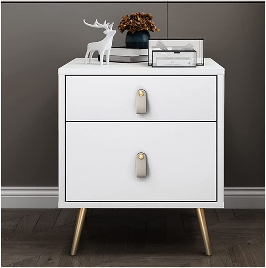GZZG Modern Nightstand with 2 Locker Large Drawers All items free shipping [Alternative dealer] for Capacity