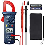 AstroAI Digital Clamp Meter, Multimeter Volt Meter with Auto Ranging; Measures Voltage Tester, AC Current, Resistance, Continuity; Tests Diodes, Red/Black