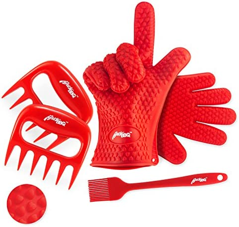 Boss BBQ Silicone Cooking Gloves Meat Shredder Claws Silicone Brush Set Heat Resistant Washable product image
