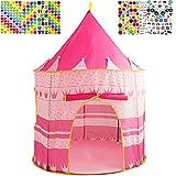 Tienda para Niños Mgee Tienda de Campaña Infantil Casa de Princesa Plegable Pop-up Portátil Tienda Castillopara Interiores y Exteriores con Bolsa de Transporte (Rosado)