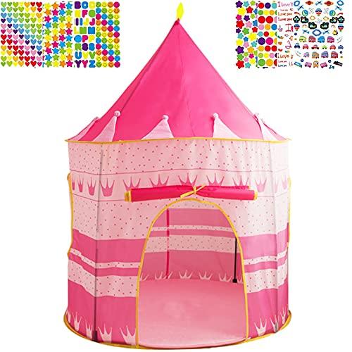 Mgee Tienda de Cama Infantil, Tiendas de Ensueño, Pop up Tienda, Carpa Juego Plegable Mágica para Niños, Regalos De Cumpleaños (C-Castillo)