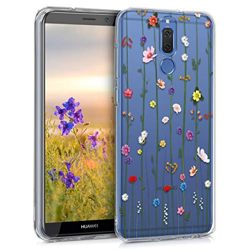 kwmobile Custodia Compatibile con Huawei Mate 10 Lite - Cover Silicone TPU - Protezione Back Case - Esplosione Primaverile Multicolore/Trasparente