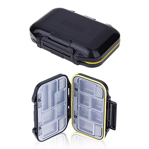Tackle Box, - 12 Compartment Waterproof Portable Tackle Box Organizer With Storing Tackle Set Plastic Storage - Mini Utility Lures Fishing Box, Small Organizer Box Containers For Trout, Jewelry, Bead