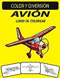AVIÓN LIBRO DE COLOREAR: Libro de colorear de aviones de diseños únicos de edición nueva y ampliada para niños, preescolares y adultos