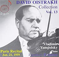 David Oistrakh plays Tartini; Franck; Schumann; Ravel; Bach by David Oistrakh (2009-02-10)