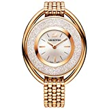 Ladies 'cristalino Ovalada de Cristal de Swarovski Rose Gold-Tone Reloj de Pulsera 5200341