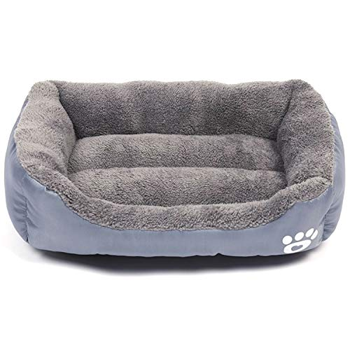 Modern Ultra Soft Warm Pet Bed Puppy Dog Mat Pad Cat Sleeping Cushion Suits for Daily Use Large: 27'x21'x6' (69x53x15cm), Grey