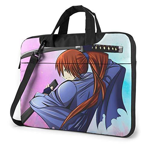 IUBBKI 13 inch Laptop Bag Rurouni Kenshin Laptop Bag Laptop Briefcase Shoulder Messenger Bag Case Sleeve