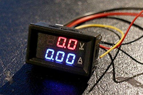 DC 30V 10A Voltímetro Ammeter Blue + Red LED Amp Dual Digital Voltímetro Gauge for Arduino, 3d printer, Raspberry Pi