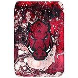 College Covers Arkansas Razorbacks Sublimated Soft Throw Blanket, 42' x 60', SUBTH