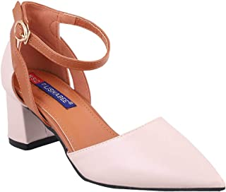 MSC Synthetic Cream Platform Heels for Women