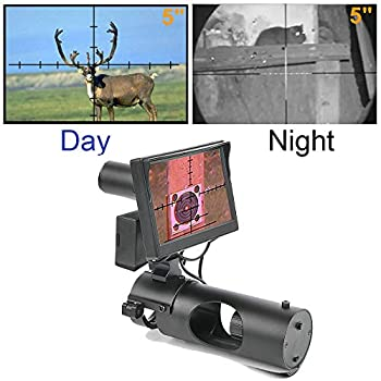BESTSIGHT Digital Night Vision Scope for Rifle Hunting with Camera and 5  Portable Display Screen
