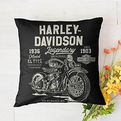 Harley Davidson, cuscino a molla in memory foam, cuscino per sonno profondo, copertura in tencel con molle insacchettate, cuscino, solido, perfetto per collo/spalla