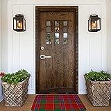 Munro Monroe - Felpudo de tartán para interiores y exteriores, antideslizante, lavable, absorbe rápidamente la humedad y resiste la suciedad para puerta, cocina, oficina, 40 x 60 cm