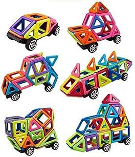 مجموعة قطع البناء ستيم المغناطيسية التعليمية للاطفال قبل سن المدرسة، العاب مغناطيسية مبتكرة ثلاثية الابعاد من فئة اصنعها ب...