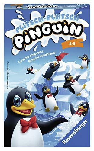 Ravensburger Mitbringspiele 23461 - Plitsch Platsch Pinguin, kompakte Mitbringspiel-Ausgabe des beliebten Geschicklichkeitsspiels, ab 4 Jahren