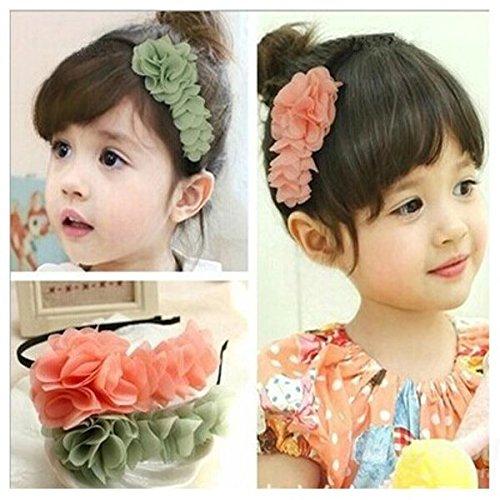 PhilMat Bébé enfants filles mousseline fleur bandeau doux cerceau élastique de cheveux