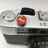 EWOOP LR-B Botón de liberación cóncavo de latón Rojo diseñado para Leica M10, M8, M9, M-E, M9-P, M, M-P, Typ240, M240, M246, Typ246, M262, M-D, M240P, Mejor Equilibrio y Comodidad de Agarre