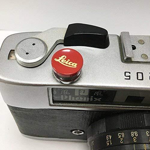JFOTO Lr-B Metal Brass Red Concave Shutter Release Button Designed for Leica M10, M8, M9, M-E, M9-P, M, M-P, Typ240, M240, M246, Typ246, M262, M-D, M240P, Better Balance & Grip Convenience