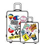 Street Fashion Sticker Decals, Laptop Vinyl Cool Stickers for Waterbottle, Hydro Flask, Luggage, Snowboard, Motorcycle, MacBook, iPhone, Wall, DIY Party Supply Graffiti Patches Decal (CPK)
