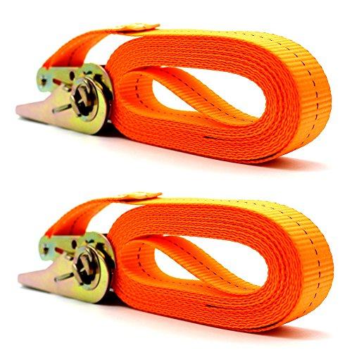Cinghie di Fissaggio, KKmoon 2 pezzi Cinghia a Cricchetto 800 kg 4 m Cricchetto da Cintura con Fibbia in Metallo, Cinghie di Tensione