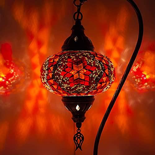 Lámpara turca (10 variaciones) - Lámpara de mesa de mosaico hecha a mano - Lámpara decorativa marroquí - Lámparas rústicas Cool Mosaico - Bombilla LED incluida con caja especial… (5)