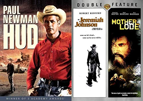 Heston Is Hitting That Ol' Dusty Trail With Robert Redford And Paul Newman Western Pack: Jeremiah Johnson & Mother Lode & HUD Western Triple Feature DVD 3-pack