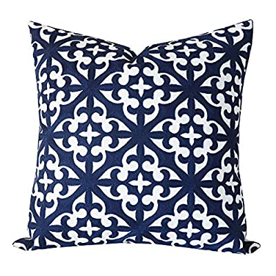 Embroidered Geometric Star Pattern Pillow Cover