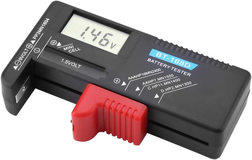 01 Universal AA AAA C D 9V 1.5V Button Cell Battery Volt Tester Checker BT-168D
